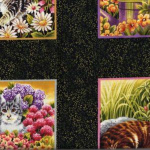 Imprimé chats vendu en bande de 15cm x 110cm
