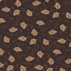 7001-03 hot chocolate Fleurs beiges sur fond Marron foncé