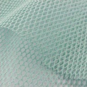 tissu filet coton bio oeko-tex azur