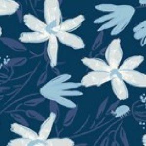 Tissu patchwork «Blue goose»  y3099-53