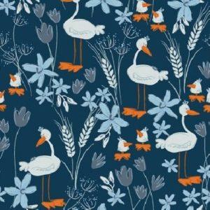 Tissu patchwork «Blue goose»  y3100-53